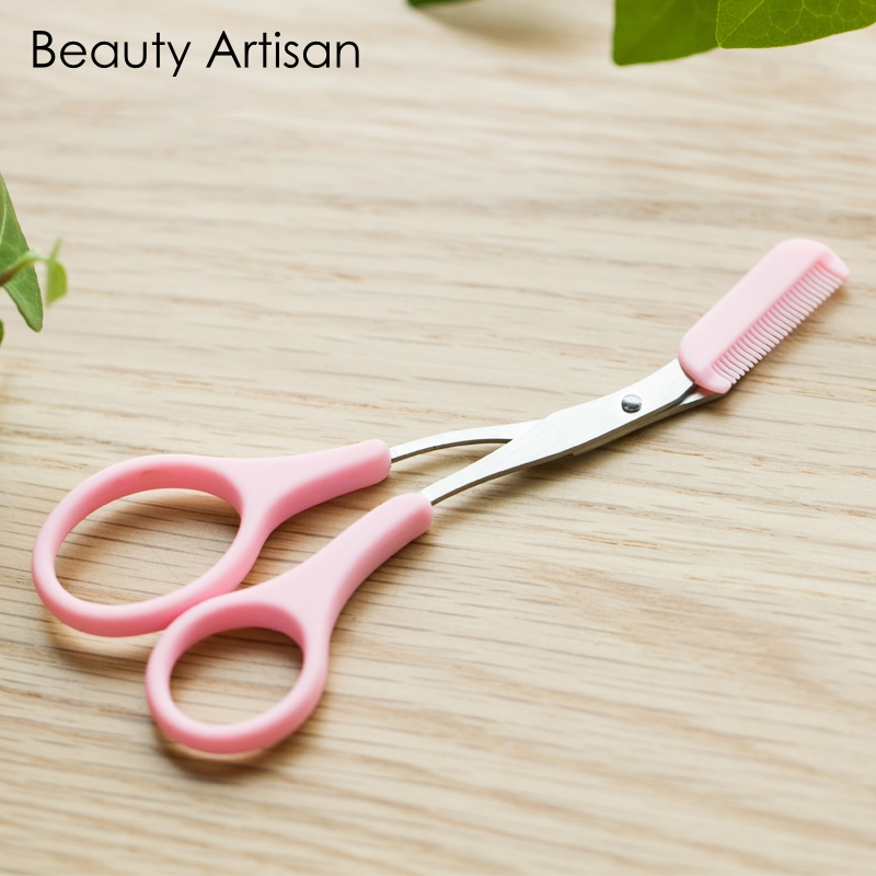 Eyebrow Trimmer Scissors With Comb Lady Woman font b Men b font Hair Removal Grooming Shaping