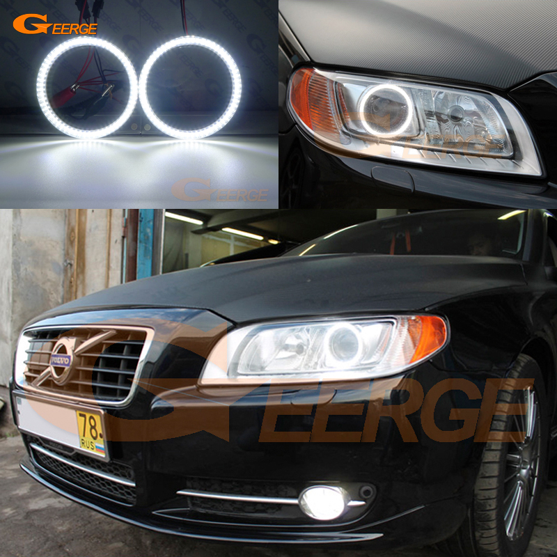 цена на For Volvo S80 2008 2009 2010 2011 2012 2013 2014 2015 2016 Ultra bright illumination smd led Angel Eyes Halo Ring kit DRL