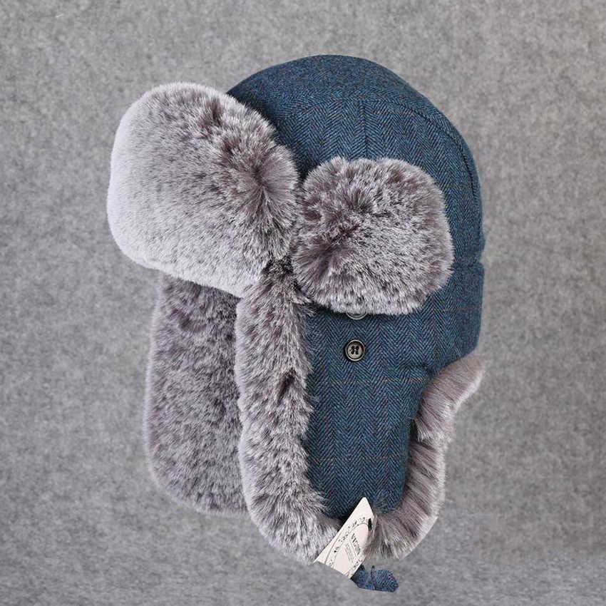 570657bf2 Winter Snow Hats Warm Earflap Bomber Hat Women Men Faux Fur Cashmere Cap  Wool Russian Ushanka Trapper Aviator Hat