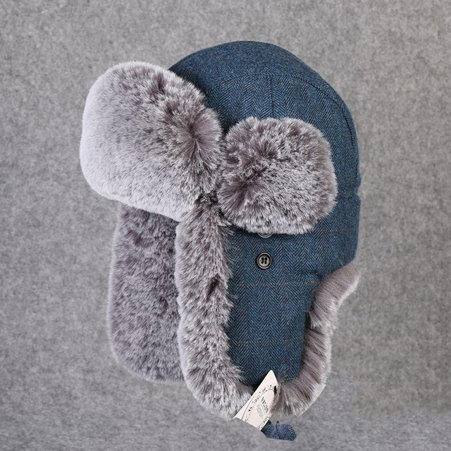 Nieve de invierno sombreros mano del bombardero sombrero de los hombres de  las mujeres de piel 92053e56dba