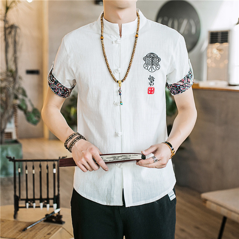 2019 summer traditional chinese clothing for men kung fu clothes cheongsam shanghai tang suit kungfu store men's vintage man 2