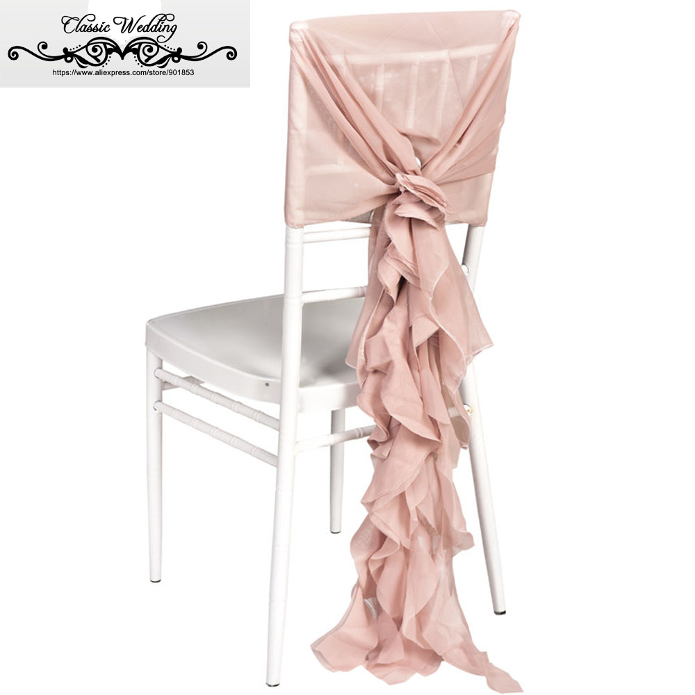Fine Us 390 0 100 Pcs Free Shipping Blush Pink Chiffon Chair Cap Sheer Chiavari Chair Cover Willow Chair Cap Ruffled Chair Sash In Sashes From Home Machost Co Dining Chair Design Ideas Machostcouk