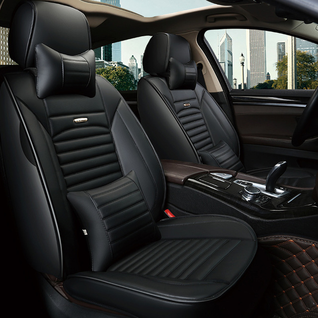 Leather Car Seat Covers Cushion Auto Interior Accessories For Ford
