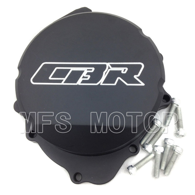 Motorcycle Part motor Left Billet Motor Engine Stator cover For Honda CBR600RR F5 2007  2008 2009 2010 2011 2012 Black aftermarket free shipping motorcycle parts billet engine stator cover for honda cbr600rr f5 2007 2012 chrome left