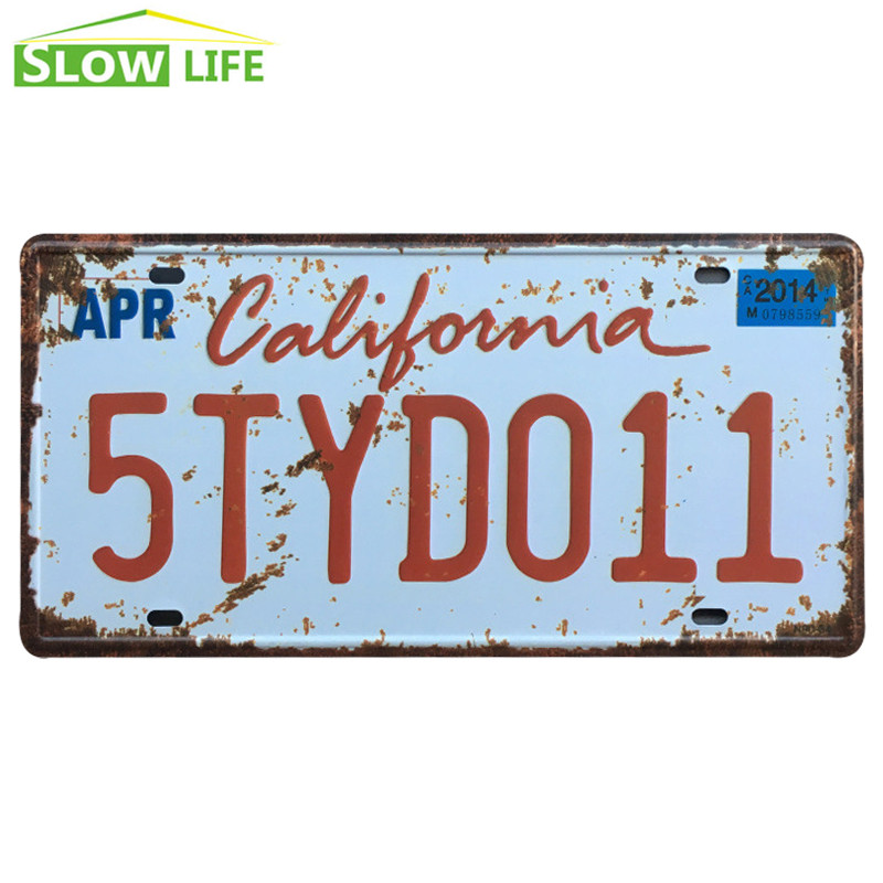 California 5TYD011 Car Metal License Plate Metal Tin Sign Vintage Home Decor Tin Sign Decorative Metal Sign Retro Metal Plaque