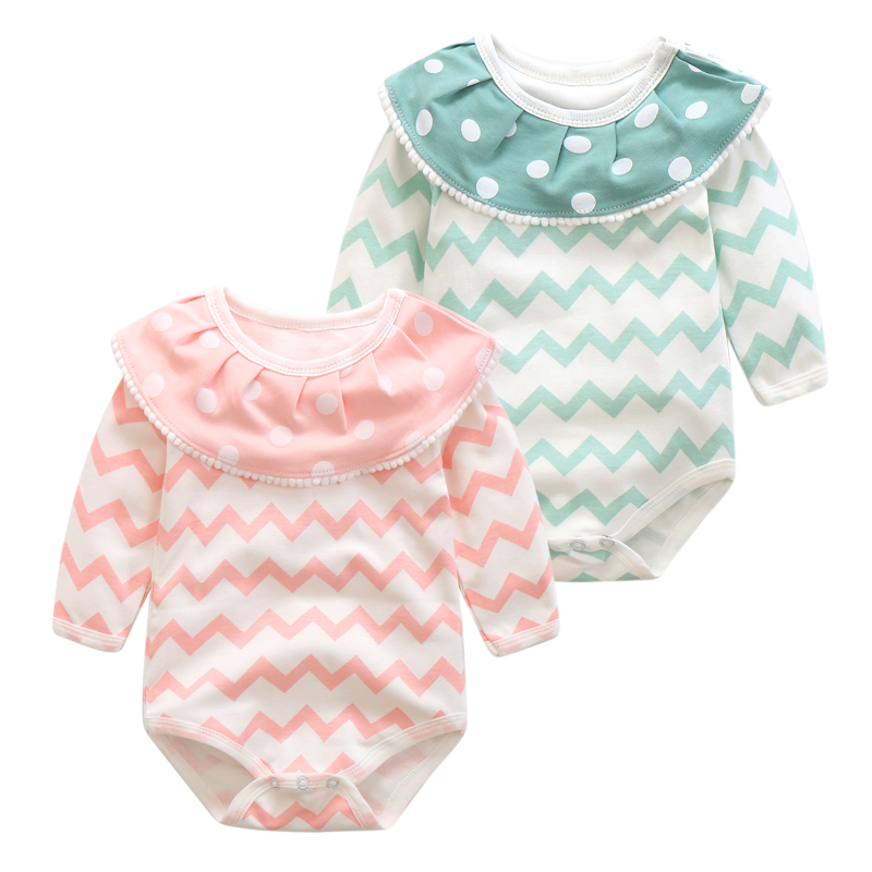 Baby Rompers Long Sleeve Baby Girls Clothing Jumpsuits Children Autumn Newborn Baby Clothes Cotton turn down collar overalls 2016 hot baby rompers boys girls cartoon short sleeve baby rompers cotton newborn baby clothes jumpsuits clothing mama printed