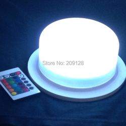 wireless battery operated rgb white red  16colours change remote control led lights for wedding or event