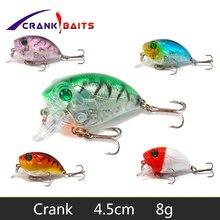 CRANK BAITS 1Pcs Crankbait fishing Wobblers 4.5cm 8g artificial Crank Bait Bass Fishing Lure pike trolling pesca carp YB504