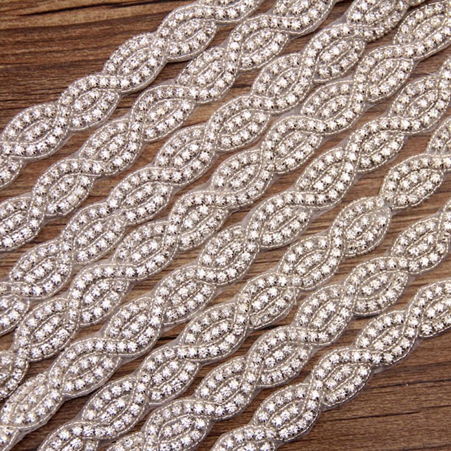 1 Yard Rhinestone Applique And Retail Crystal Rhinestone Sash Accessory For Wedding Belt Waistband Hat Hairban