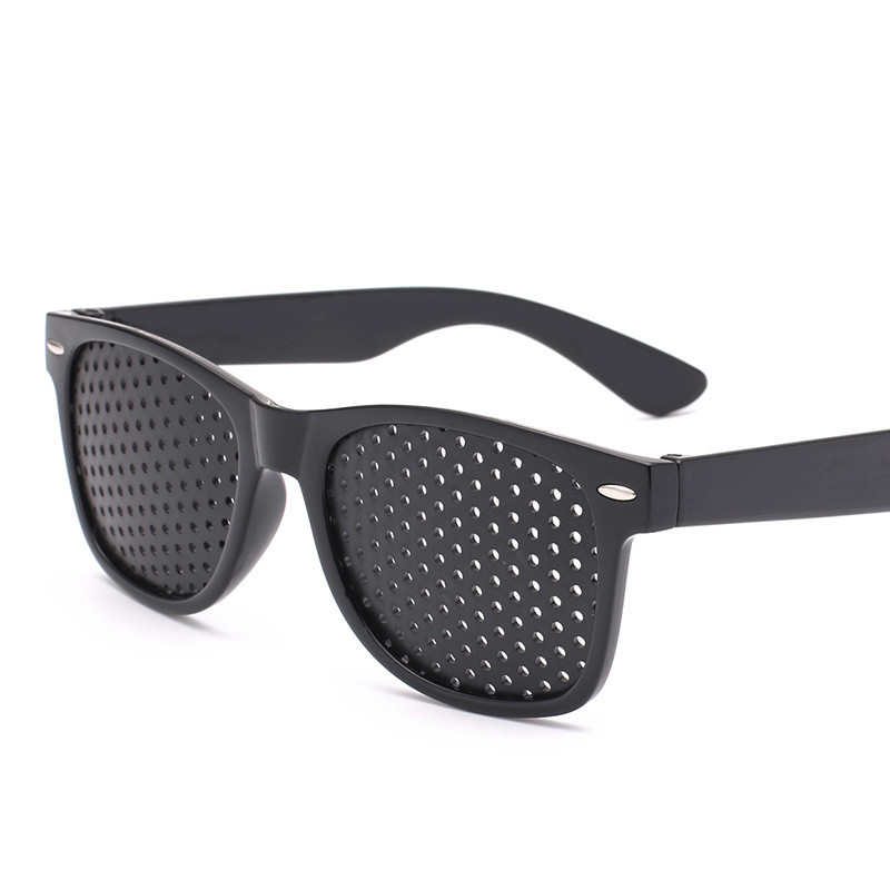 Anti Myopia Pinhole Sunglasses Corrected Visual Acuity Eye