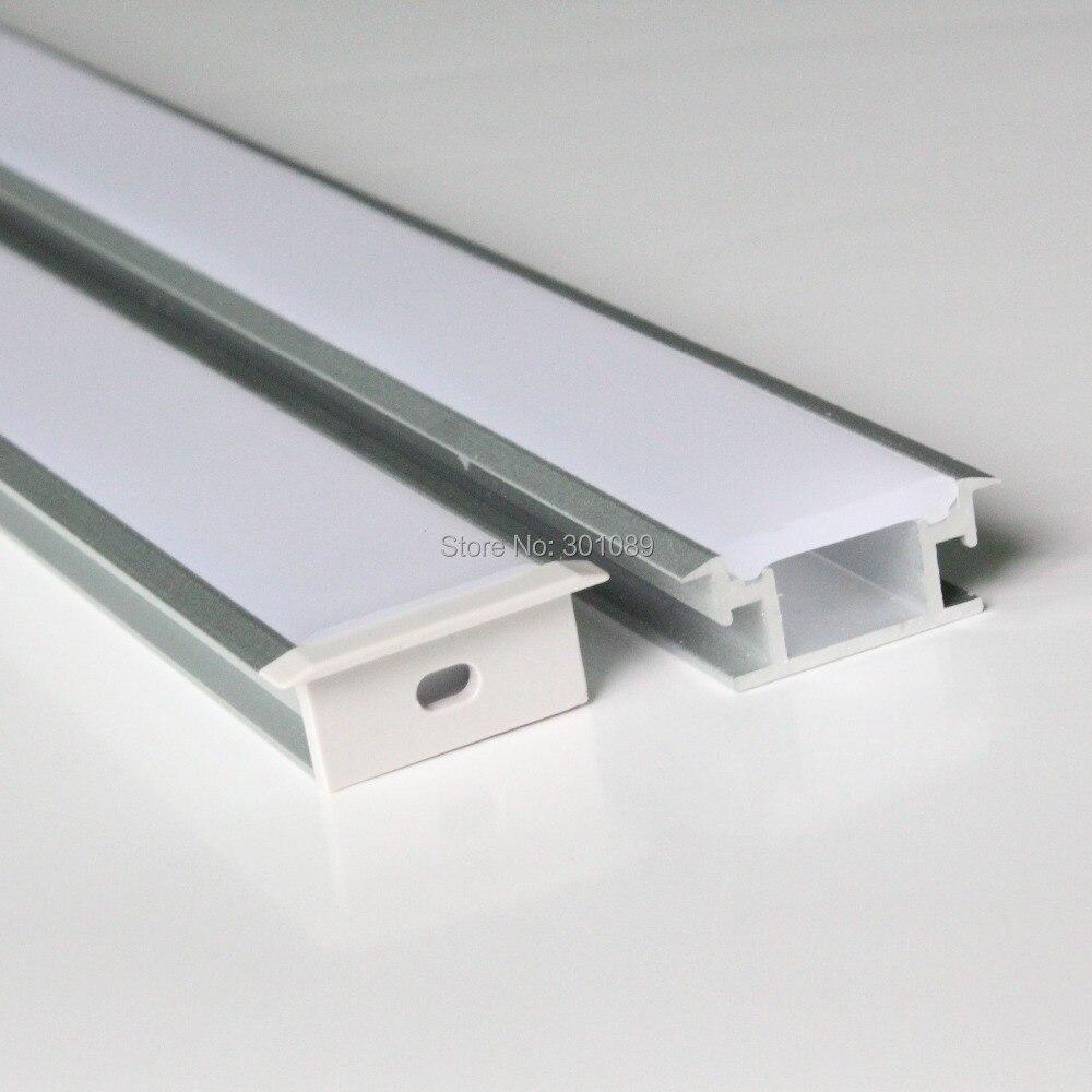 20m (20pcs) a lot, 1m per piece, floor aluminum profile for led