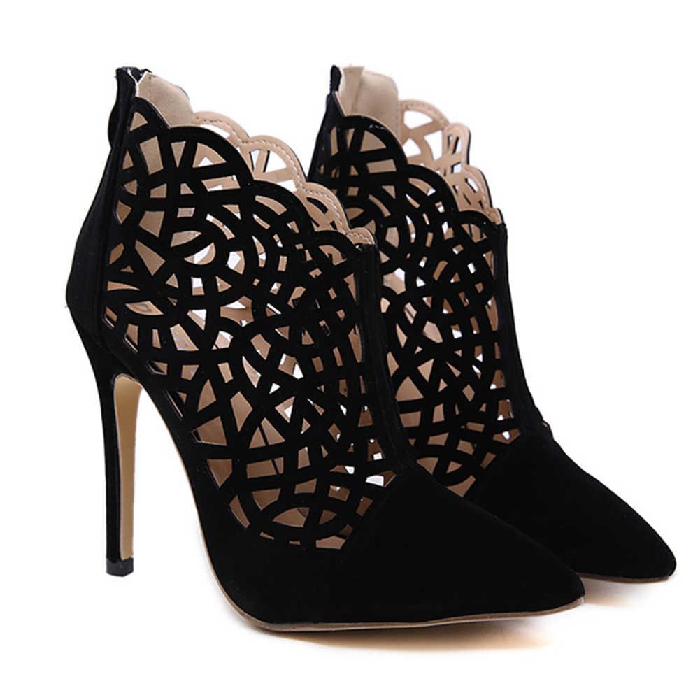 ออกแบบบางรองเท้าส้นสูง pointed Toe เซ็กซี่พรรครองเท้ารองเท้าฤดูร้อนรองเท้าผู้หญิงเซ็กซี่รองเท้าผู้หญิงข้อเท้ารองเท้า