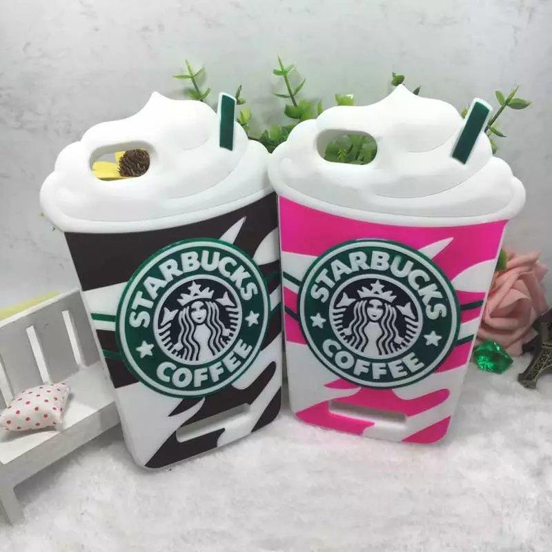 3D Bande Dessinée Starbuck Café Tasse Cas Pour Coque Wiko Lenny 3 Doux TPU Gel Silicone Téléphone Couverture Arrière Pour Lenny 3 Jerry K-kool Capa
