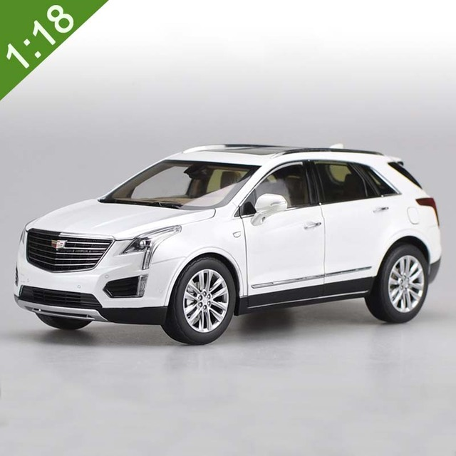 New 1 18 Diecast Model For Gm Cadillac Xt5 Suv White Alloy Toy Car