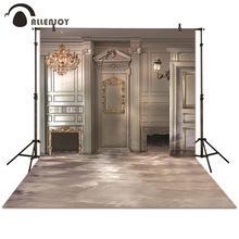 Fotografia allenjoy tło europejski kominek ściana ziemia srebrny tło photocall fotograficzne studio fotograficzne wesele