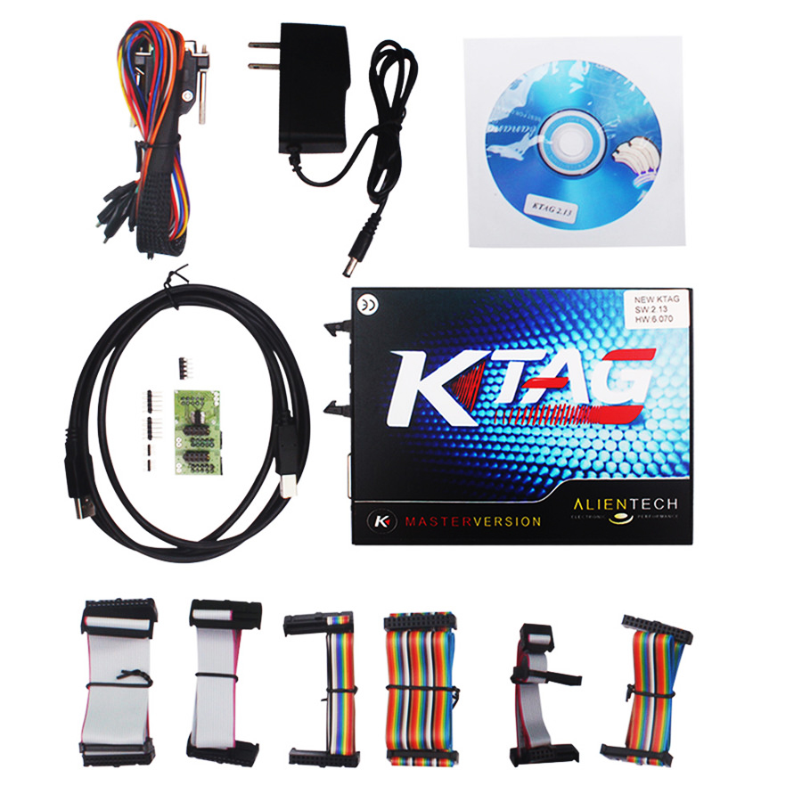 Top Rated KTAG K TAG V6.070 Car ECU Performance Tuning Tool KTAG V2.13 Car Programming Tool Master Version DHL Free Shipping free delivery car engine computer board ecu 0261208075