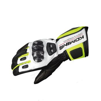GK 198 Carbon Protect Gloves Motocross Motorcycle Race Touring Breathable Touch Screen Gloves Black Neon