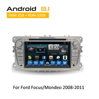 2 Din Touch Screen Android Car DVD Player for Ford Mondeo/Focus 2008 2009 2010 2011 2012 Car GPS Navigation AUX Bluetooth SWC