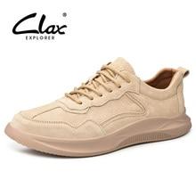 CLAX Men Leather Sneakers Suede Male Casual Shoe Fashion Mans Walking Footwear Soft