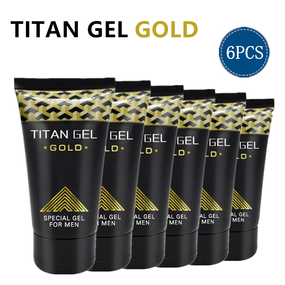 6pcs Original Russian TITAN GEL GOLD for Men Penis