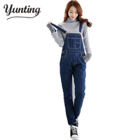 New Autumn Winter Full Length Rompers Womens Jumpsuit Bandage Bib Denim Overalls For Women Macacao Feminino Jeans Playsuit