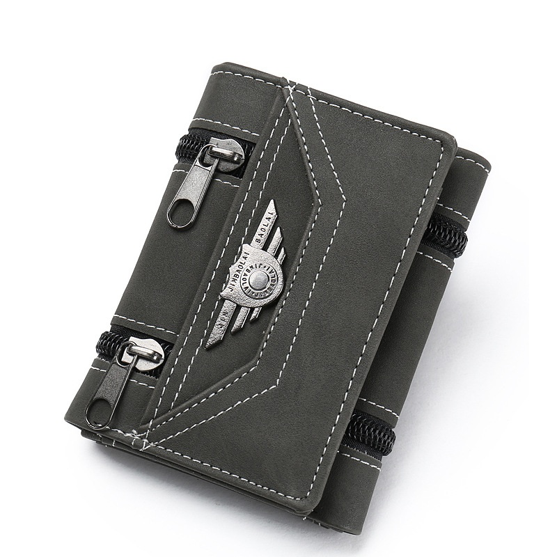 2018 New wallet card organizer phone bit male money bag coin pocket pu leather concise purse men double hasp drop shipping