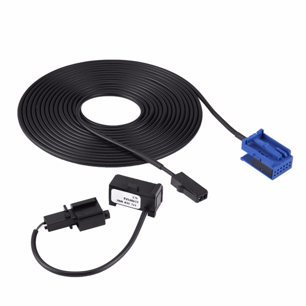 Bluetooth Microphone Harness Cable Kit for VW Peugeot 307 308 Citroen C4 C3 C5 RD45 CD Player Car Cables Auto Car Accessories