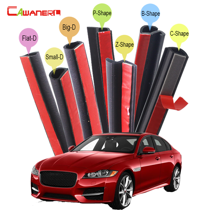 Cawanerl Car Rubber Seal Edge Trim Weatherstrip Seal Sealing Strip Kit Noise Insulation Self-Adhesive For Jaguar XJ X-Type XFL cawanerl for mazda cx 5 cx 7 cx 9 tribute car hood trunk door sealing strip kit rubber seal edge trim weatherstrip anti noise page 2
