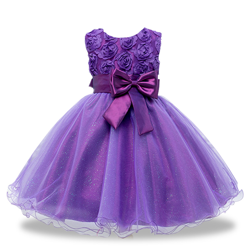 New Year Flowers Flower Dresses For Wedding Party Baby Girls Christmas Party Princess Clothing Children