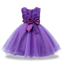 Nouvel An Fleurs Fleur Robes Pour la Fête De Mariage, Bébé Filles Princesse De Fête De Noël Vêtements, Enfants Robes D'été