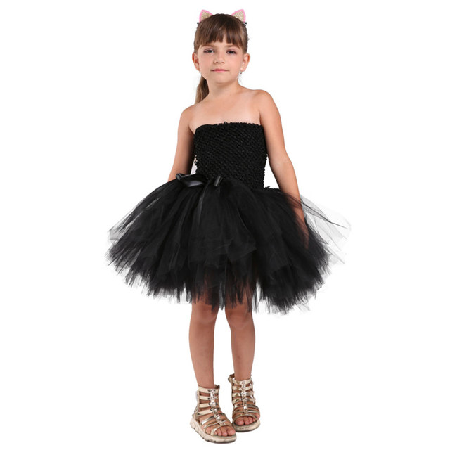 PRINCESS TUTU Black Cat Girl Dress Sleeveless Tulle Sexy Costume Girls Party Dress Animal Halloween Costumes For Kids K051A  sc 1 st  Aliexpress & Online Shop PRINCESS TUTU Black Cat Girl Dress Sleeveless Tulle Sexy ...