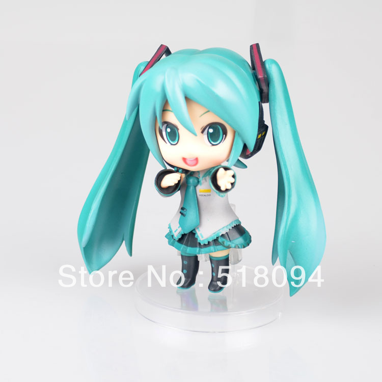 Free Shipping Cute 4 Nendoroid Vocaloid Hatsune Miku PVC Action Figure Collection Model Toy #33 free shipping new cosplay pretty hatsune miku water blue miku cos wigs