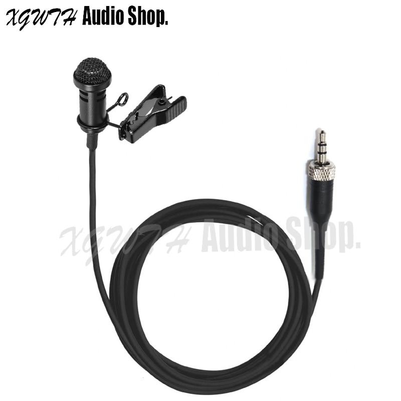 Mini Lapel Lavalier Microphone Condenser Audio Mic For Sennheiser SK EW 100 300 500 Wireless BodyPack Transmitter With Clip Cap