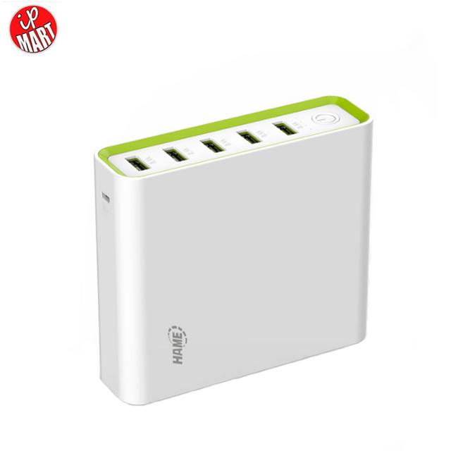 Hame 20000 mAh Banco de la Energía de Carga Rápida 5 Puerto USB Multi la energía de Gran capacidad de Carga Rápida Banco de la Estación de Carga de La Familia Para iphone7