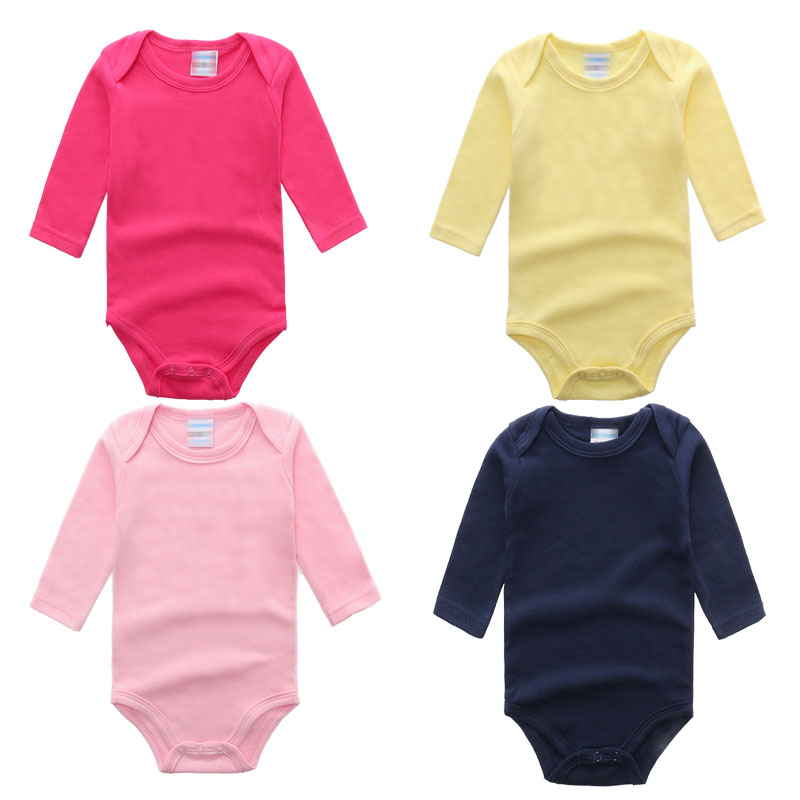 Baby Clothes Newborn 2018 Cotton Long Sleeve Solid knit Baby Rompers Girl Boy clothes Overalls baby onesie Baby Costume