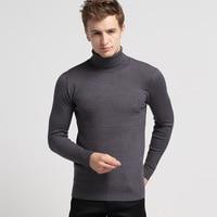 Envmenst Men Sweaters 2017 Male Sweater Causal Slim Fit Knitwear Winter Sweaters Solid Color Long Sleeve Turtleneck Pullovers