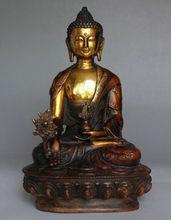 21 cm * / Old Tibetan Brass Buddhism Bodhisattva Sakyamuni Buddha Statue
