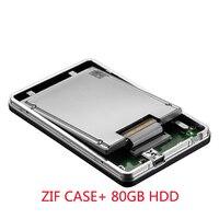 Zheino 1 8 Inch 80GB HDD External Hard Drive USB 2 0 Hdd Case With ZIF
