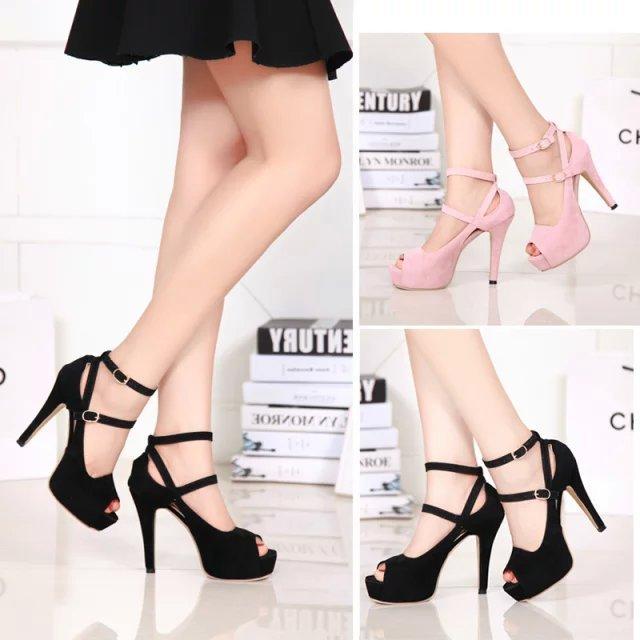 GOXPACER Open toe women pumps female high heels platform women shoes single shoes thin heels open toe female leg bandage