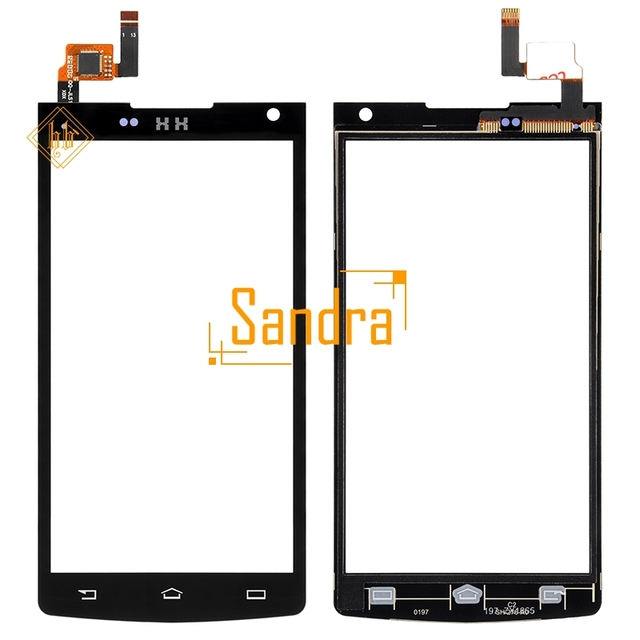 New HH For Philips Xenium S388 Touch Screen Sensor Front Glass For Xenium CTS388 S388 Tested Panel Replacement Digitizer Parts