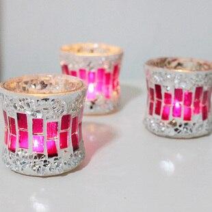 Wholesale Fashion Mosaic Glass Mousse 2013/ Romantic Valentine's Decoration/ Home Supplies/ Wedding Candle Holder/ Barware