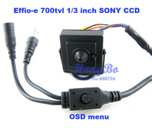 Free shipping new mini camera Effio-e 700tvl with 1/3″ Sony CCD 3.7mm lens with OSD menu Security cctv Camera