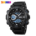 SKMEI 1228 Mens Sports Digital Wristwatches Water Resistant Chronograph Alarm Clock Dual Time Display Military Watch