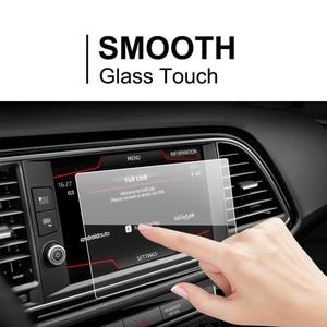 Image 2 - Ruiya protetor de tela do carro para leon x perience 8 Polegada 2017 gps navegação touch center display auto interior adesivos acessórios