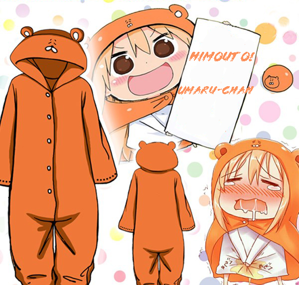 New Himouto! Umaru-chan Adult Onesie Fleece Sleepwear Costume Winter Pajamas Unisex Jumpsuits
