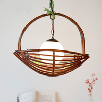 American bamboo Pendant Lamp basket Pendant Lights restaurant farm hostel Cafe decoration engineering hall Z11670
