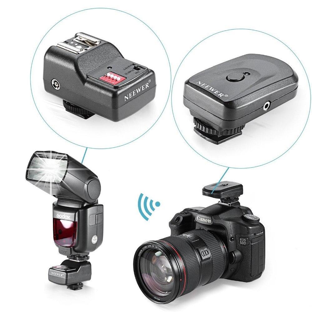 Neewer 16 Canali Wireless Radio Remote Trigger con Ricevitore PC per Canon/Nikon/Yongnuo Flash/Altri con universale Hot Shoe
