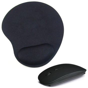 Wireless Mouse 2.4GHz USB Optical Trackball PC Thicken Mouse Pad Support Wrist Comfort Mouse Pad For Computer Laptop