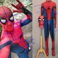 Movie Cose High Quality Custom Made Embossed Spider Captain America Civl War Spider-man Costume Civil War Spiderman Suit #5