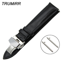18mm 20mm 22mm Quick Release Genuine Leather Watch Band for Rado Diamaster Centrix Men Women Butterfly Buckle Strap Wrist Belt
